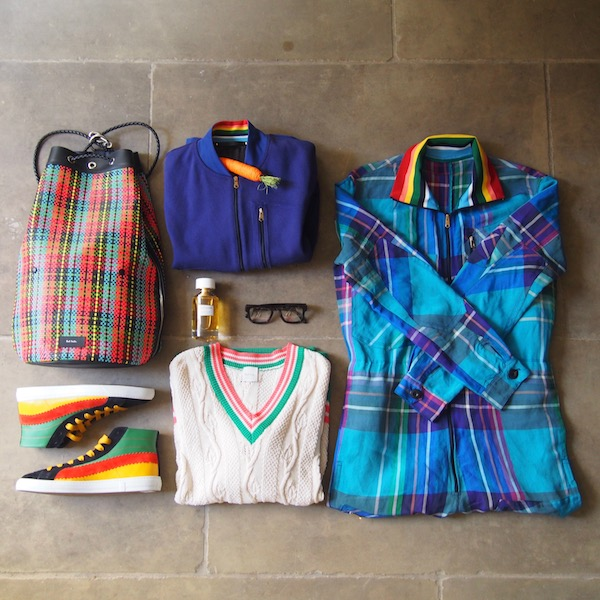 flatlay menswear OOTD paul smith boucheron