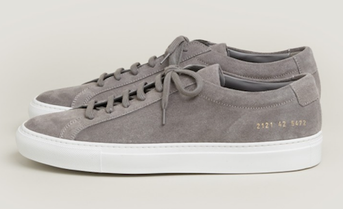 Common Projects grey suede sneakers trainers SS18 Trunk Clothiers Menswear