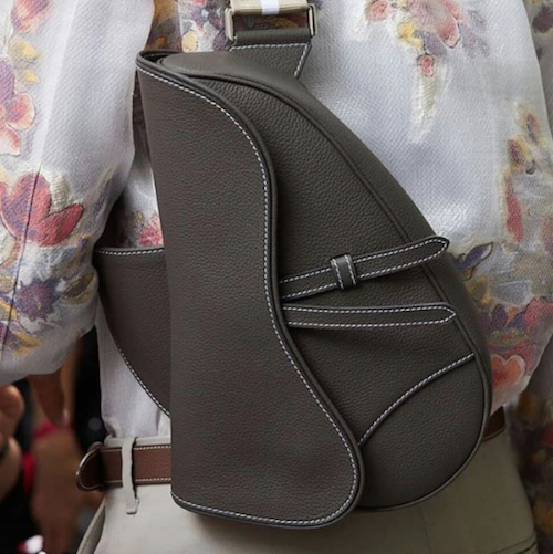 Men carry handbags trend menswear Dior Saddle Bag SS19