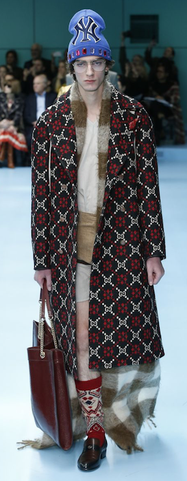 AW18 menswear trends Milan Gucci coat