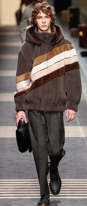 AW18 menswear trends Milan Fendi diagonal stripes