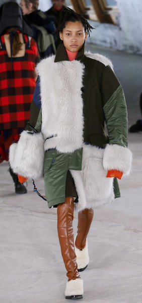 AW18 menswear trends Paris Fun Fur Sacai