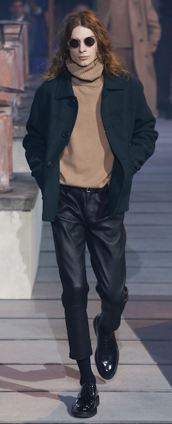 AW18 menswear trends Paris Ami leather trousers business