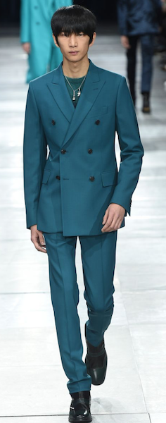 AW18 menswear trends Paris Paul Smith Petrol Blue