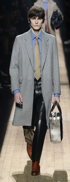 AW18 menswear trends Paris dunhill silver accessorises bag