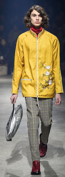 AW18 menswear trends Paris Kenzo silver accessorises bag