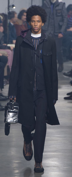 AW18 menswear trends Paris Lanvin silver accessorises bag