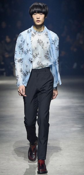 AW18 menswear trends Paris male twinset Kenzo floral