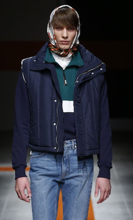 MSGM AW17 menswear Queen Accessory trend Male Headscarf Vetements AW18