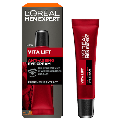 L'oreal men expert vita lift red wine eye cream grooming review tried tested